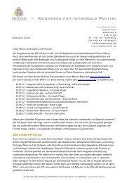 Newsletter Oktober 2012 - integrale politik