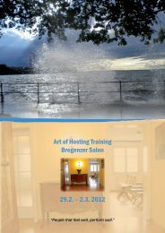 Art of Hosting Training Bregenzer Salon 29.2. – 2.3. 2012