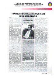 1 Praxis für Naturheilkunde und Psychotherapie - Integrale Therapie ...