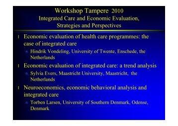 Tampere Integrated Care 2010 [Alleen-lezen] - Julius Centrum ...
