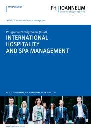 International Hospitality and Spa Management