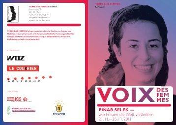 PINAR SELEK –– wie Frauen die Welt verändern 21. 11. – 25 ... - Cfd