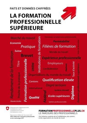 La Formation proFessionneLLe supÉrieure - CH