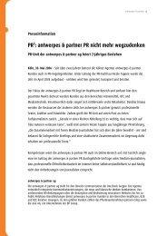 PR2: antwerpes & partner PR nicht mehr ... - DocCheck AG