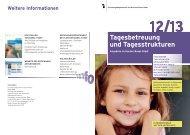 Tagesbetreuung und Tagesstrukturen - Erziehungsdepartement