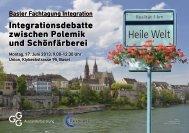Flyer Fachtagung - Integration BS/BL
