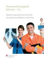 Personenfreizügigkeit Schweiz – EU - Integrationsbüro Europa - CH
