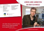 LEBEn und ArBEitEn in dEr SChWEiz - Integration BS/BL