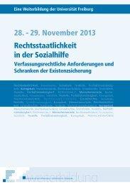 Rechtsstaatlichkeit in der Sozialhilfe 28. - 29 ... - Integration BS/BL