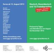 Deutsch, Baseldeutsch und 16 Fremdsprachen - Integration BS/BL