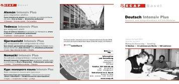 Basel Deutsch Intensiv Plus - Integrationsdatenbank beider Basel