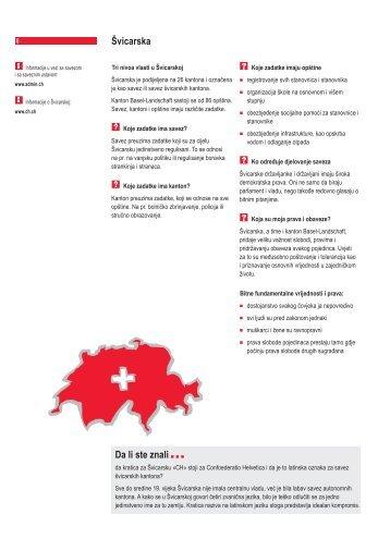 Åvicarska Da li ste znali - Integration BS/BL