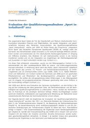 Auswertung der Evaluationsbögen