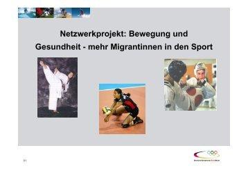 Netzwerkprojekt - Integration durch Sport