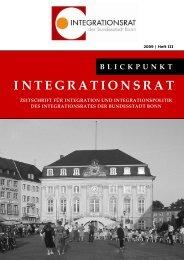 Blickpunkt Integrationsrat Vol. III - Integration in Bonn