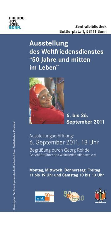 Flyer zur Ausstellung - Integration in Bonn