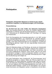Partizipation - Integration in Wuppertal