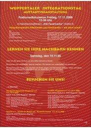 Wuppertaler Integrationstag Lernen Sie Ihre Nachbarn kennen ...