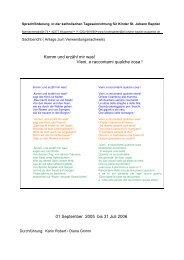 Sprachförderung in der kath. Tageseinrichtung für Kinder St. Johann ...