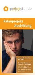 Flyer Patenprojekt Ausbildung - Integration in Wuppertal