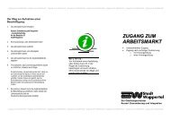 Flyer: Zugang zum Arbeitsmarkt - Integration in Wuppertal
