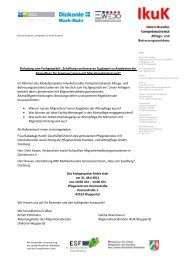 Das Programm zum Fachgespräch - Integration in Wuppertal