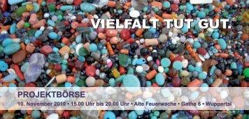 Projektbörse Flyer - Integration in Wuppertal