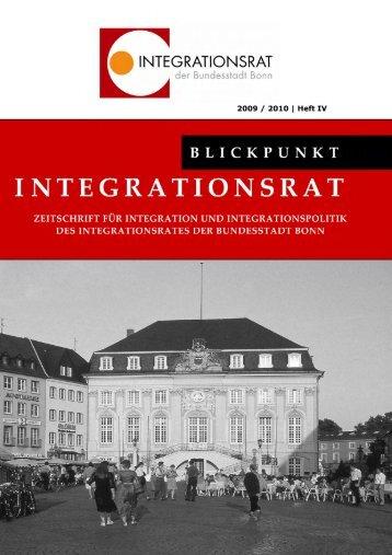 Blickpunkt Integrationsrat Vol. IV - Integration in Bonn
