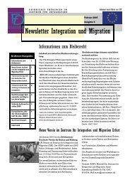 Newsletter Nr. 5 vom Februar 2007 - Integration und Migration in ...