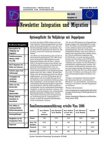 Newsletter Nr. 11 vom Mai 2008 - Integration und Migration in ...