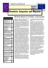 Newsletter Nr. 8 vom Oktober 2007 - Integration und Migration in ...