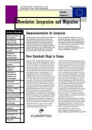 Newsletter Nr. 17 vom Mai 2009 - Integration und Migration in ...