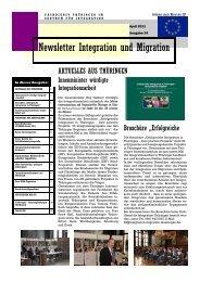 Newsletter Nr. 24 vom April 2011 - Integration und Migration in ...