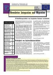 Newsletter Nr. 12 vom Juli 2008 - Integration und Migration in ...