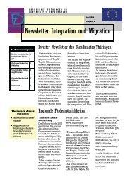 Newsletter Nr. 2 vom Juni 2006 - Integration und Migration in ...