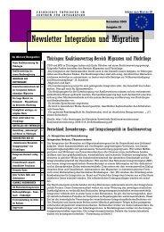 Newsletter Nr. 19 vom November 2009 - Integration und Migration in ...
