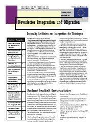 Newsletter Nr. 16 vom Februar 2009 - Integration und Migration in ...