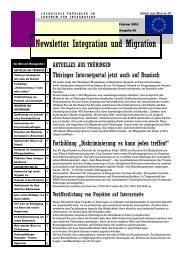 Newsletter Nr. 20 vom Februar 2010 - Integration und Migration in ...