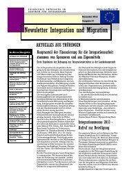 Newsletter Nr. 27 vom Dezember 2011 - Integration und Migration in ...