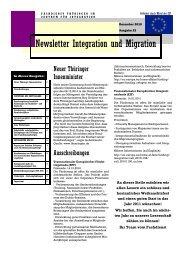 Newsletter Nr. 23 vom Dezember 2010 - Integration und Migration in ...