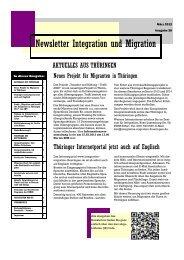 Newsletter Nr. 28 vom März 2012 - Integration und Migration in ...