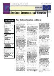 Newsletter Nr. 4 vom Dezember 2006 - Integration und Migration in ...