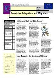Newsletter Nr. 1 vom Mai 2006 - Integration und Migration in ...