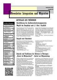 Newsletter Nr. 30 vom September 2012 - Integration und Migration ...