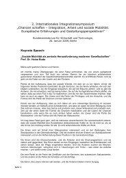 2. Internationales Integrationssymposium - Integration-Symposium