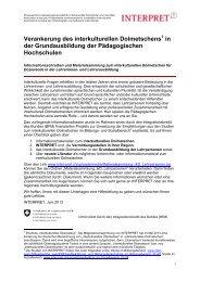 Überblick ikD Ausbildung Lehrpersonen (396 kB, PDF) - Integration