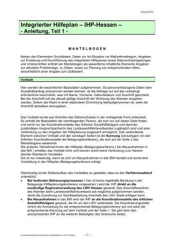 Erläuterungen zum Mantelbogen - Landeswohlfahrtsverband Hessen