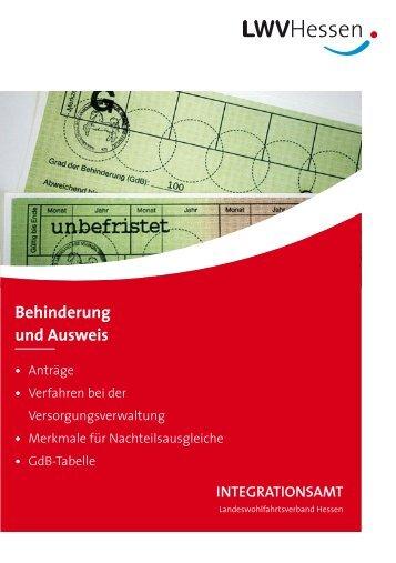 Behinderung und Ausweis - Integrationsamt