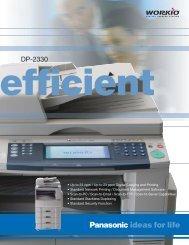 Panasonic's DP-2330 - Advanced Business Equipment ...