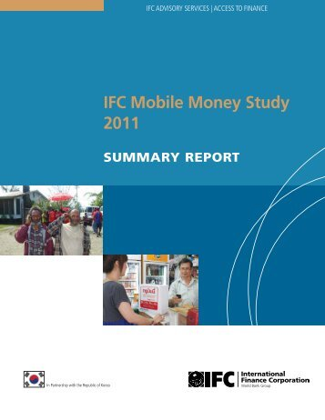IFC Mobile Money Study 2011 - Intelecon research